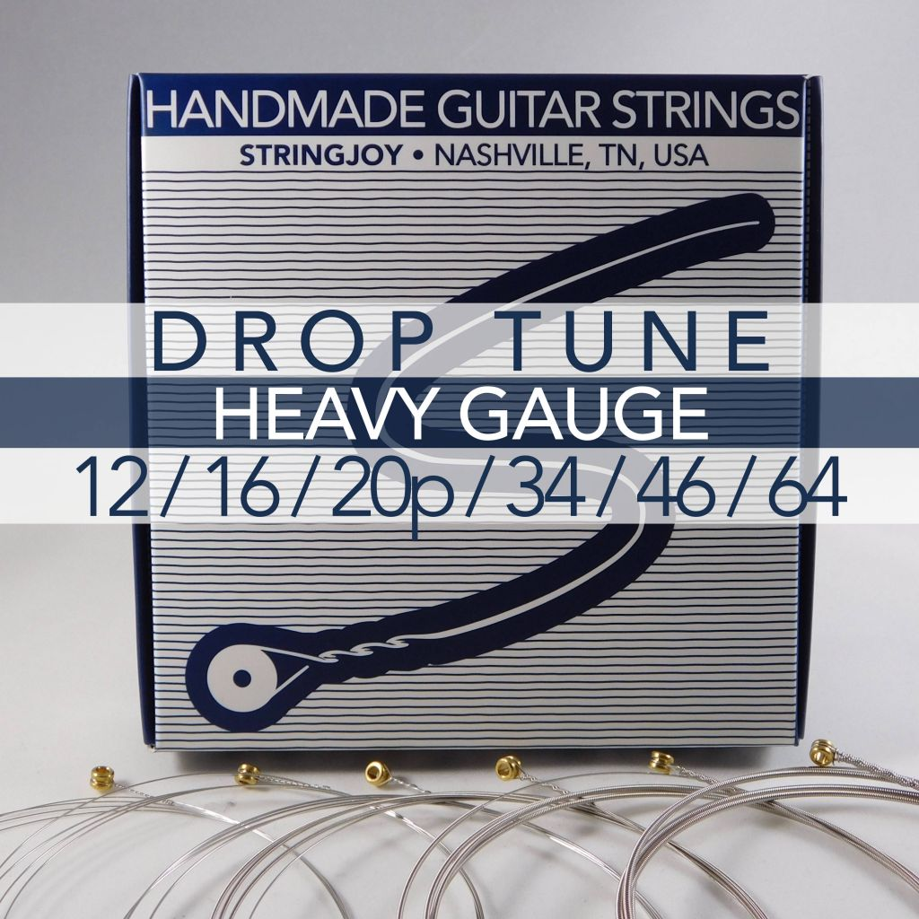 stringjoy drop tune heavy gauge 12 64 nickel wound electric guitar strings. Black Bedroom Furniture Sets. Home Design Ideas