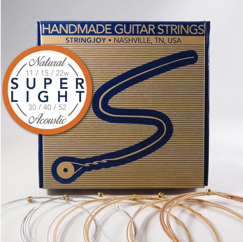 stringjoy super light 11 52 natural bronze acoustic guitar strings. Black Bedroom Furniture Sets. Home Design Ideas