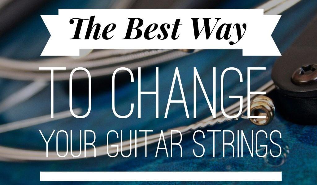 the best way to change your guitar strings stringjoy. Black Bedroom Furniture Sets. Home Design Ideas