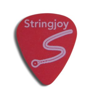 Stringjoy .50mm Bright Red Classic Picks