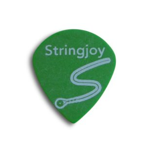 Stringjoy .88mm Neon Green Jazz Picks