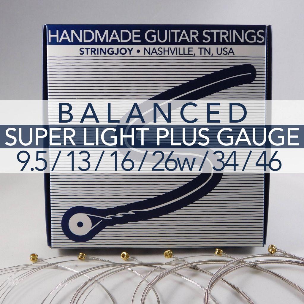 stringjoy balanced super light plus gauge 9 5 44 nickel wound electric guitar strings. Black Bedroom Furniture Sets. Home Design Ideas