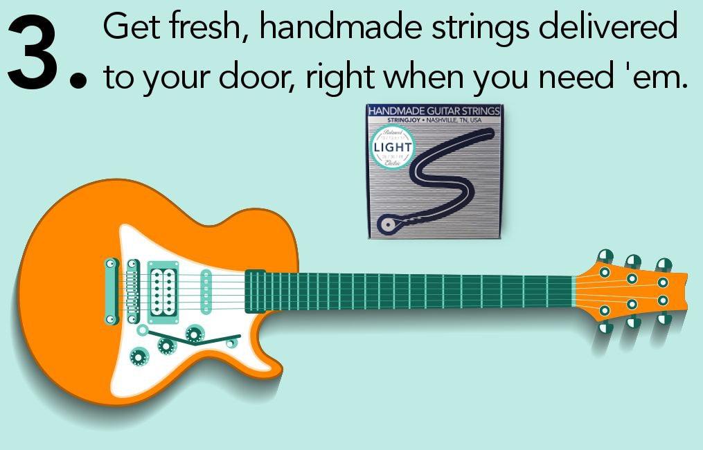 Guitar String Subscription by Stringjoy