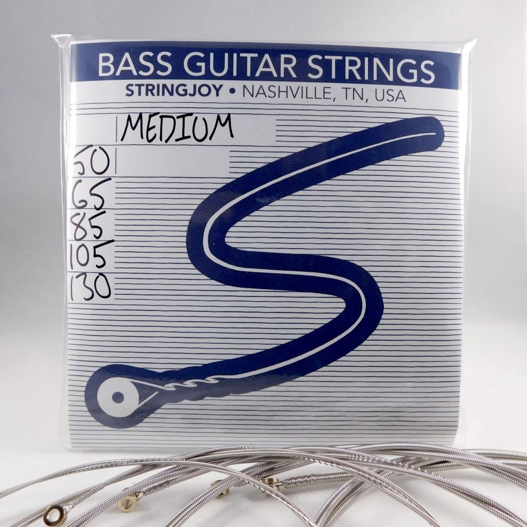 stringjoy medium gauge 50 130 5 string nickel wound bass guitar strings stringjoy. Black Bedroom Furniture Sets. Home Design Ideas