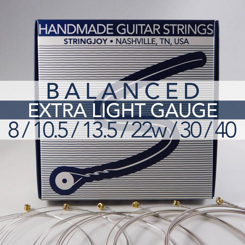 stringjoy balanced extra light gauge 8 40 nickel wound electric guitar strings. Black Bedroom Furniture Sets. Home Design Ideas