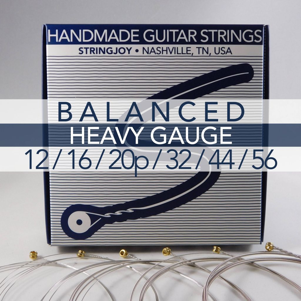 stringjoy balanced heavy gauge 12 56 nickel wound electric guitar strings. Black Bedroom Furniture Sets. Home Design Ideas