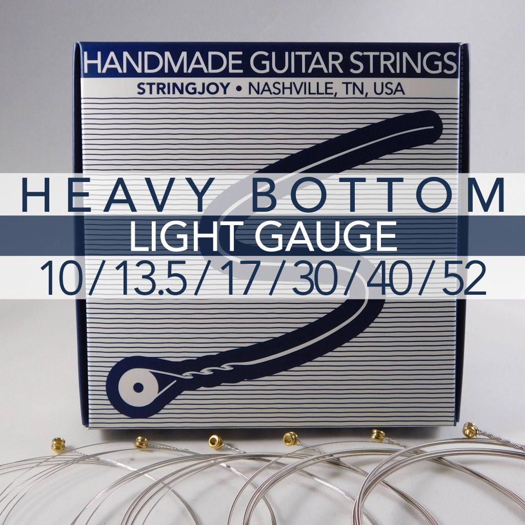 stringjoy heavy bottom light gauge 10 52 nickel wound electric guitar strings. Black Bedroom Furniture Sets. Home Design Ideas