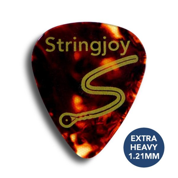 Stringjoy Extra Heavy 1.21mm Tortoise Picks (Celluloid) - 10 Pack