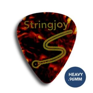 Stringjoy Heavy .96mm Tortoise Picks (Celluloid) - 10 Pack