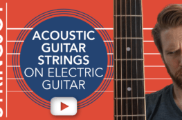 Acoustic Guitar Strings On Electric Guitar