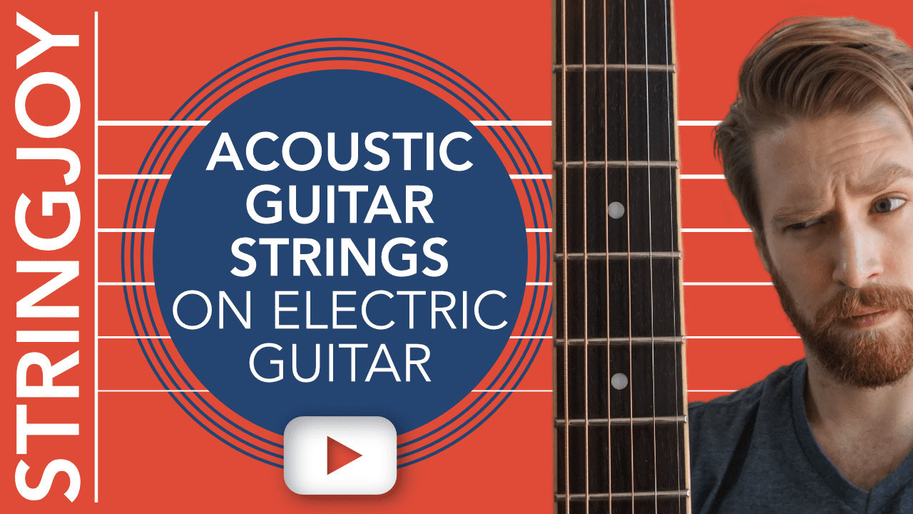 we put acoustic guitar strings on an electric guitar so you don 39 t have to. Black Bedroom Furniture Sets. Home Design Ideas