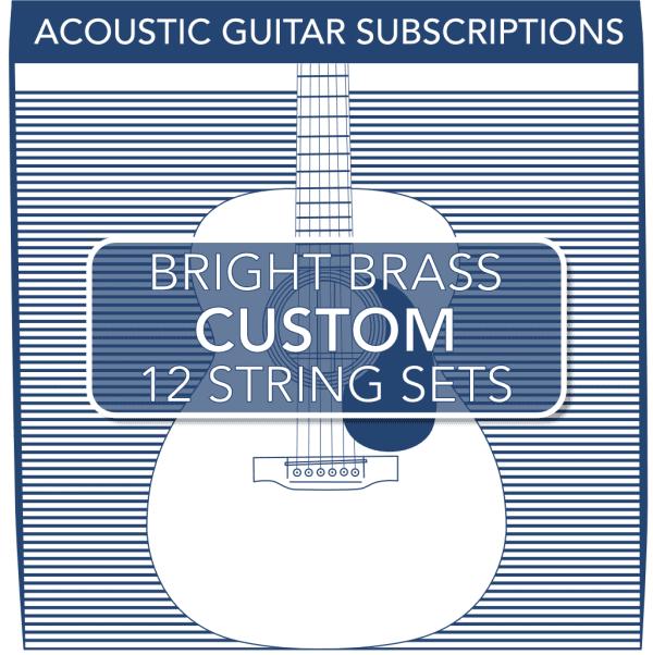Stringjoy Custom Subscription 12 String Bright Brass Acoustic Guitar Strings