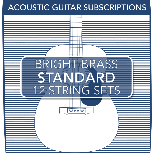 Stringjoy Subscription 12 String Bright Brass Acoustic Guitar Strings