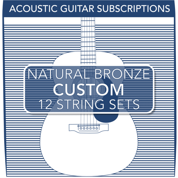 Stringjoy Custom Subscription 12 String Natural Bronze Acoustic Guitar Strings