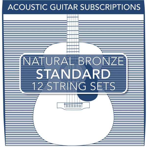 Stringjoy Subscription 12 String Natural Bronze Acoustic Guitar Strings