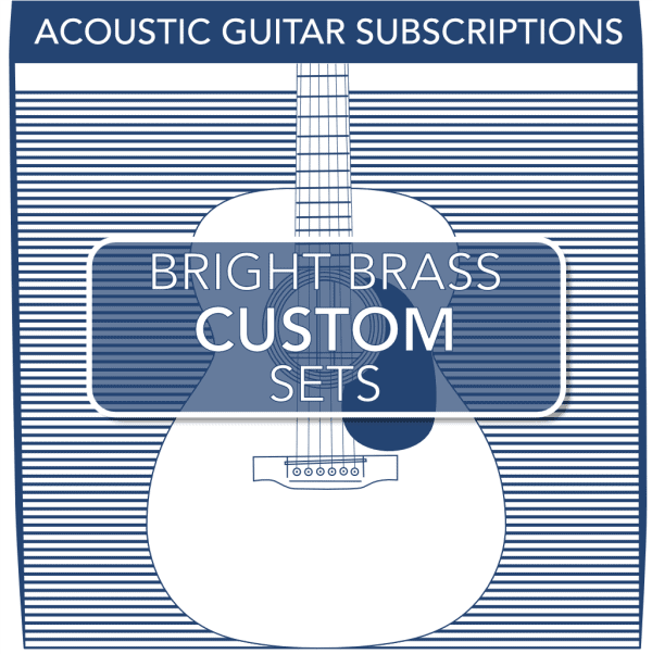 Stringjoy Custom Subscription 6 String Bright Brass Acoustic Guitar Strings