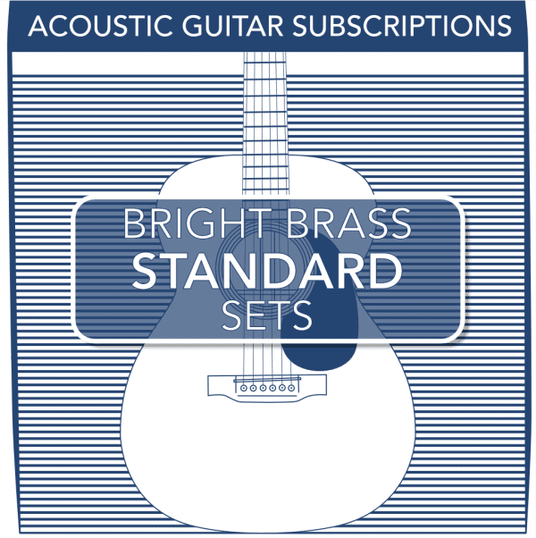 Stringjoy Subscription 6 String Bright Brass Acoustic Guitar Strings