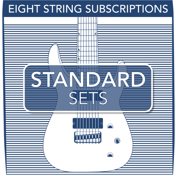 Stringjoy Subscription 8 String Nickel Wound Electric Guitar Strings