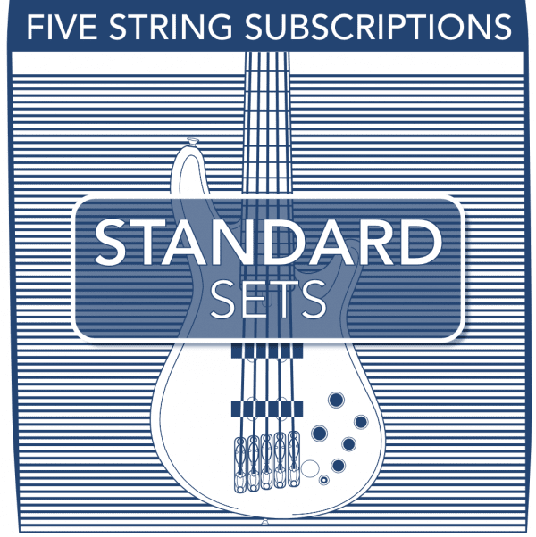 Stringjoy Subscription 5 String Nickel Wound Bass Strings