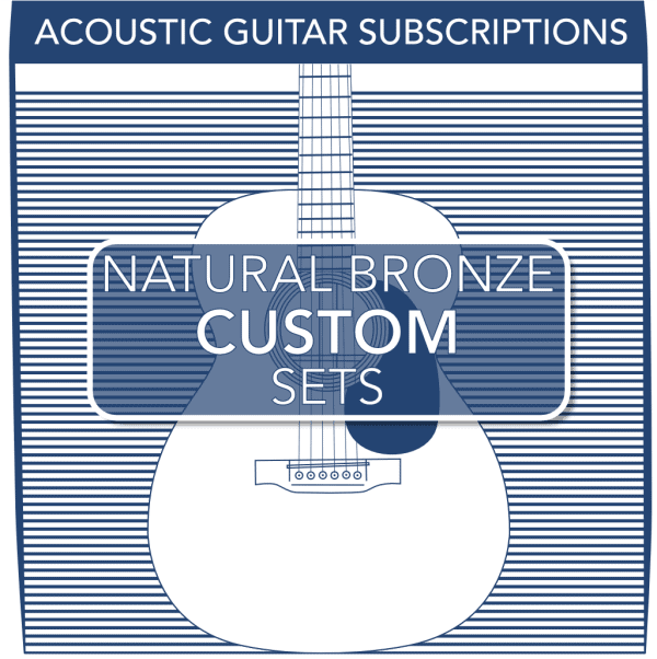 Stringjoy Custom Subscription 6 String Natural Bronze Acoustic Guitar Strings