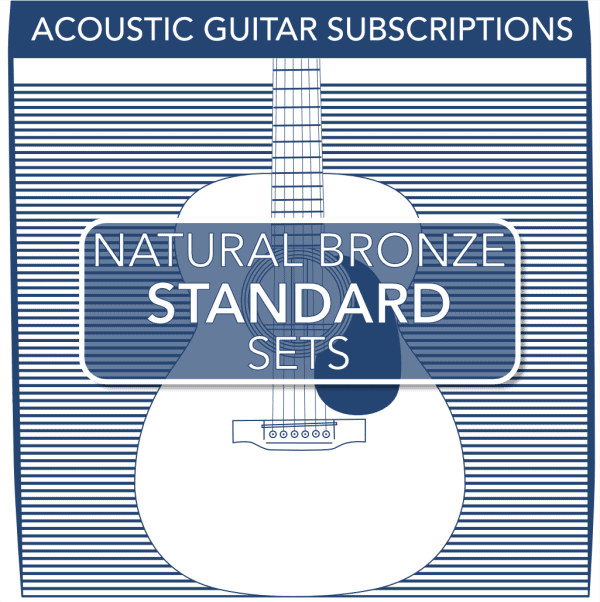 Stringjoy Subscription 6 String Natural Bronze Acoustic Guitar Strings