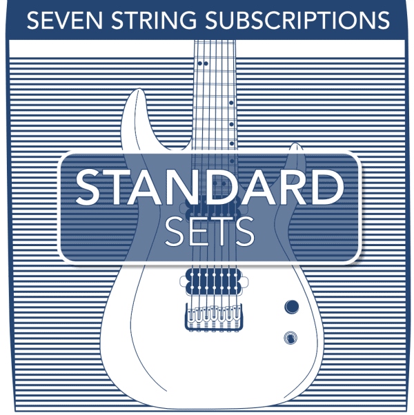 Stringjoy Subscription 7 String Nickel Wound Electric Guitar Strings
