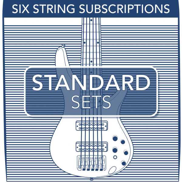 Stringjoy Subscription 6 String Nickel Wound Bass Strings