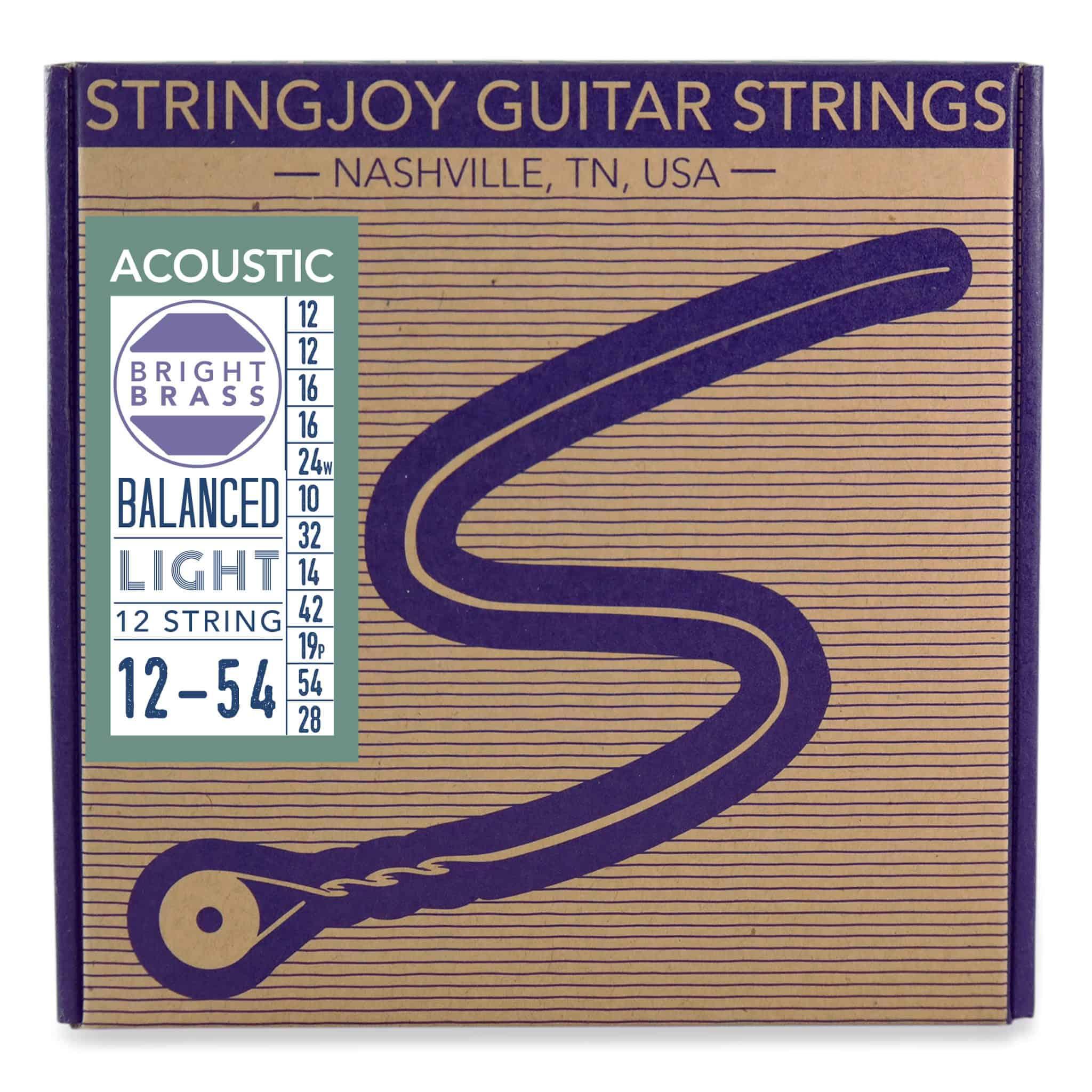 stringjoy light gauge 12 string 80 20 acoustic guitar strings. Black Bedroom Furniture Sets. Home Design Ideas