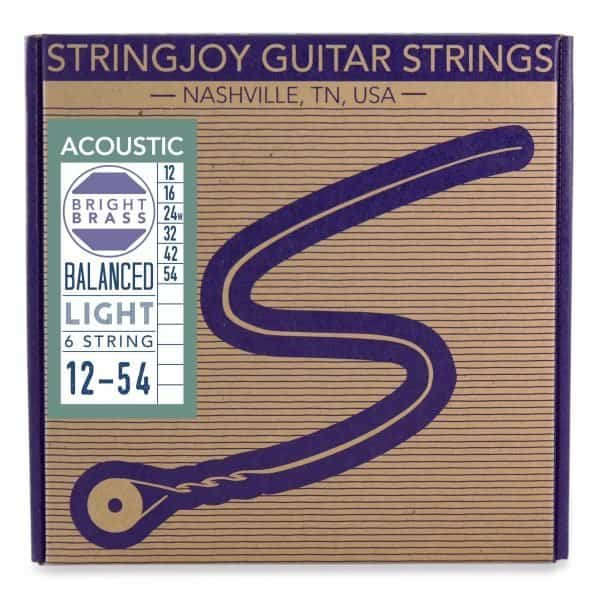 Stringjoy Light (12-54) Bright Brass™ 80/20 Bronze Acoustic Guitar Strings