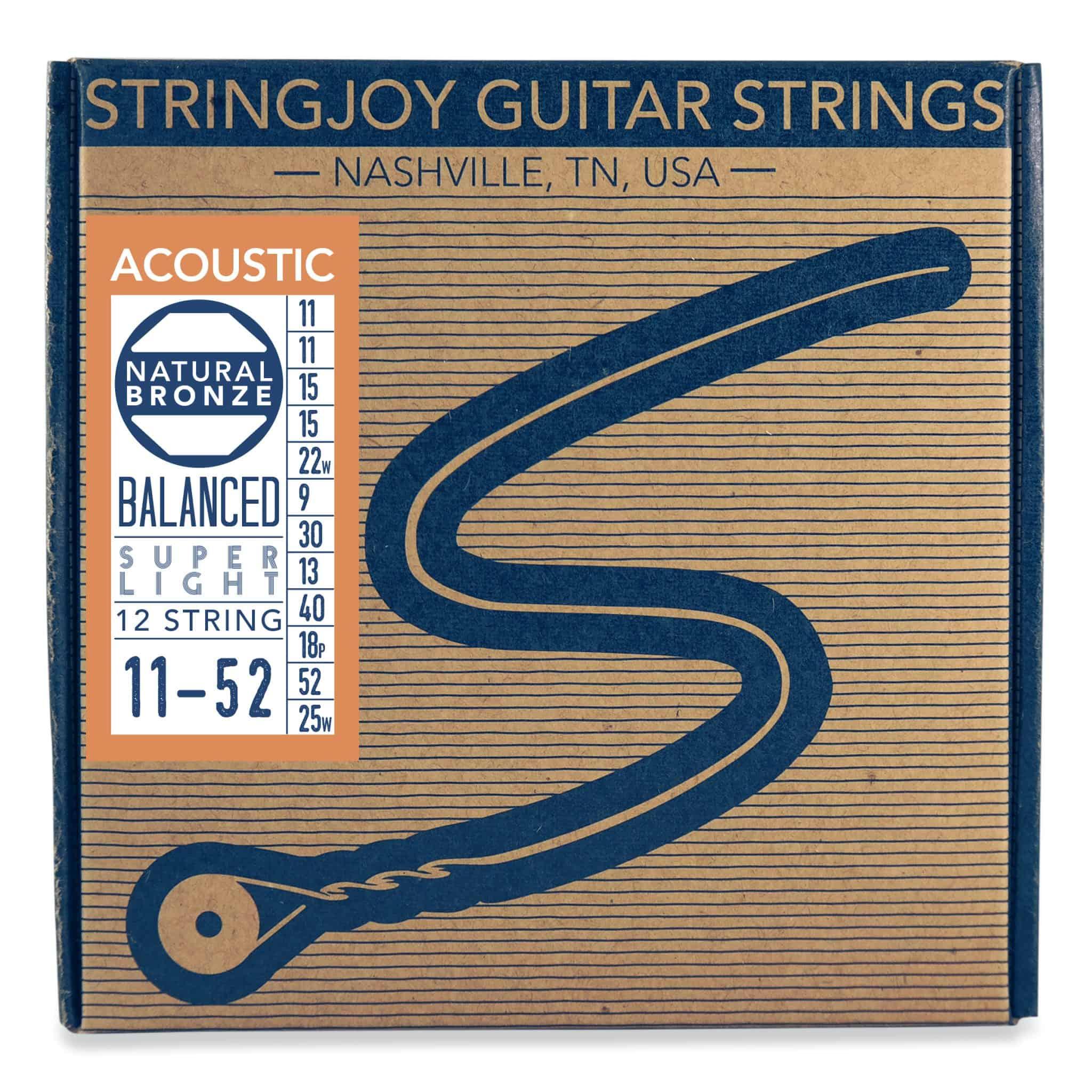 stringjoy super light gauge 12 string phosphor acoustic guitar strings. Black Bedroom Furniture Sets. Home Design Ideas