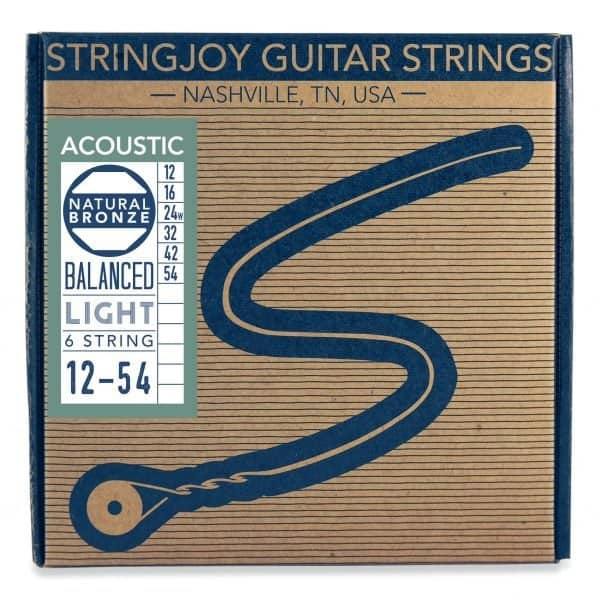 Stringjoy Light (12-54) Natural Bronze™ Phosphor Acoustic Guitar Strings
