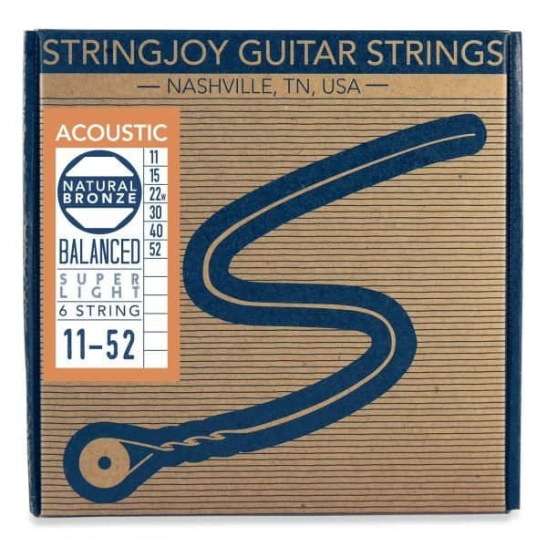 Stringjoy Super Light (11-52) Natural Bronze™ Phosphor Acoustic Guitar Strings
