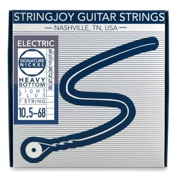 Stringjoy 7 String Heavy Bottom Light Plus Gauge (10.5-68) Nickel Wound Electric Guitar Strings