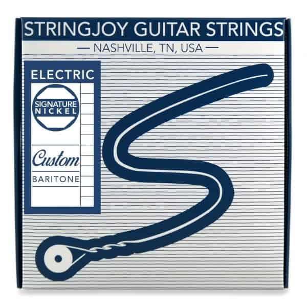 Stringjoy Custom Baritone Nickel Wound Electric Guitar Strings
