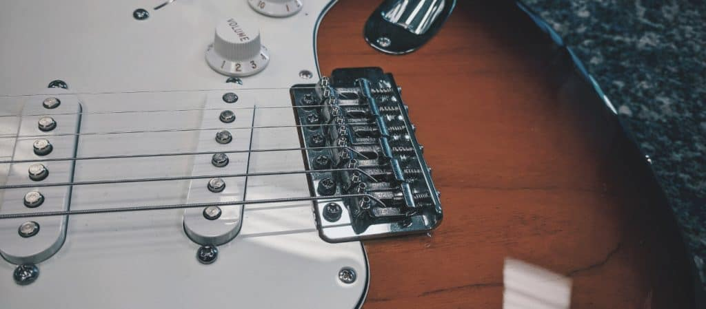 Action at the Bridge of a Fender Stratocaster
