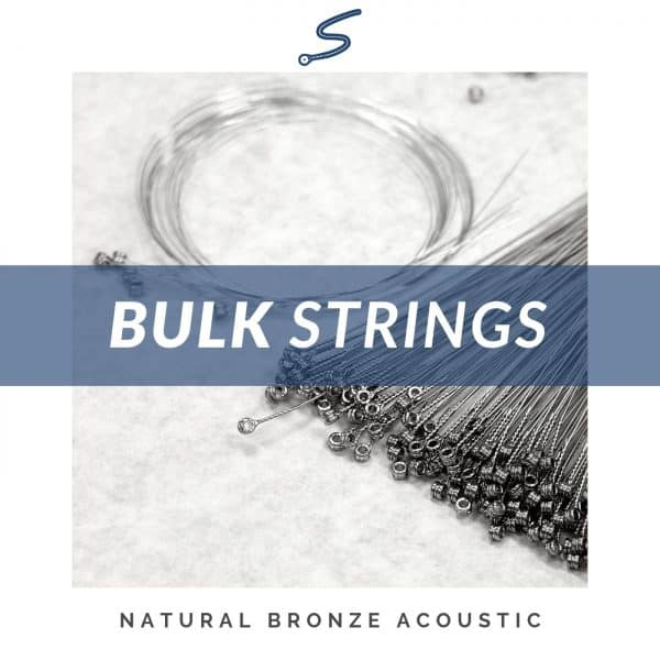 Bulk Natural Bronze & Plain Steel Acoustic Guitar Strings – 25 pc.