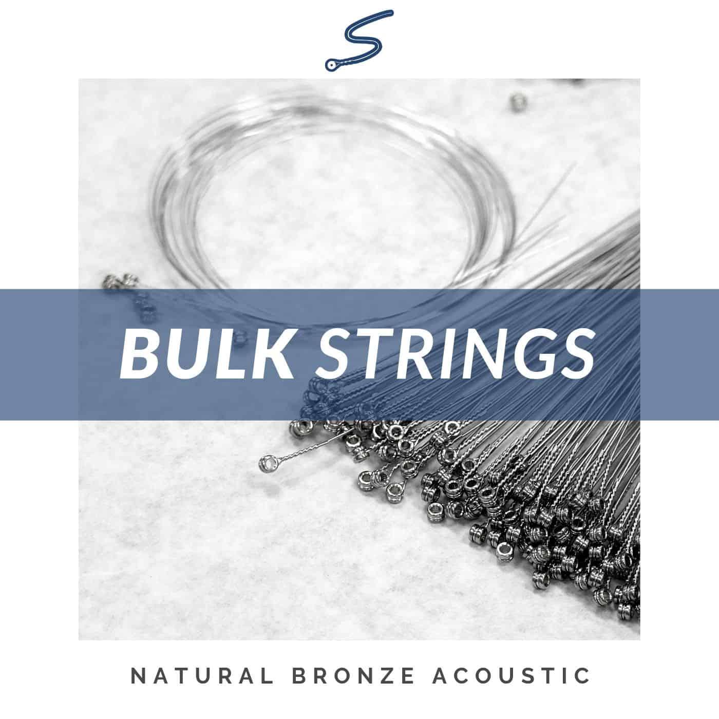 stringjoy bulk acoustic guitar strings natural bronze plain steel. Black Bedroom Furniture Sets. Home Design Ideas