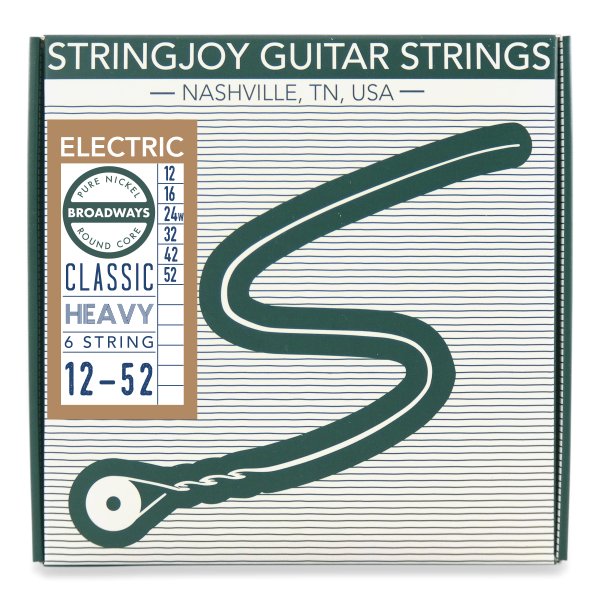stringjoy broadways classic heavy gauge 12 52 pure nickel electric guitar strings. Black Bedroom Furniture Sets. Home Design Ideas