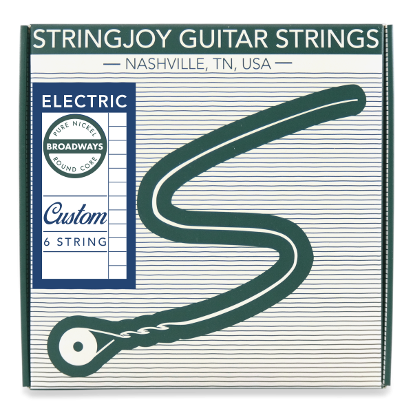 Stringjoy Broadways | Custom Pure Nickel Electric Guitar Strings